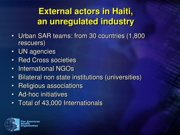 External actors in Haiti,