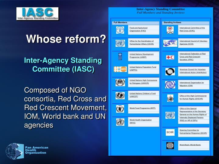 Whose reform?