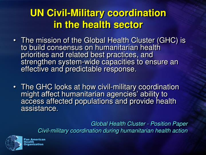 UN Civil-Military coordination