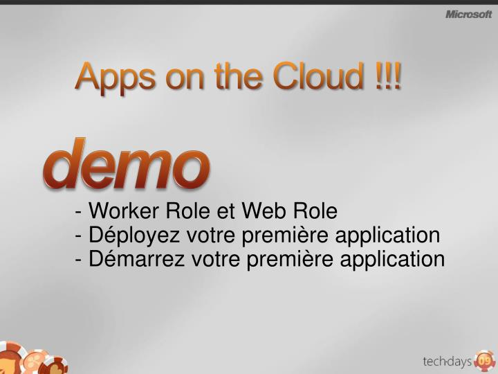 Apps on the Cloud !!!