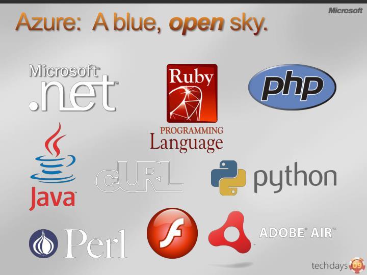 Azure:  A blue,
