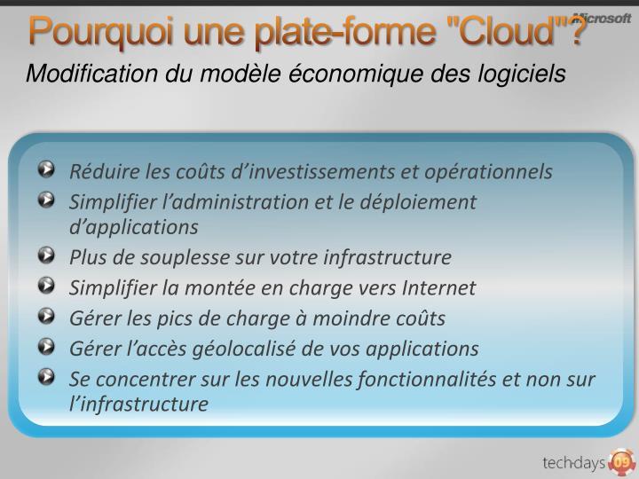"""Pourquoi une plate-forme """"Cloud""""?"""