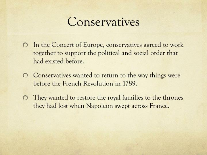 Conservatives