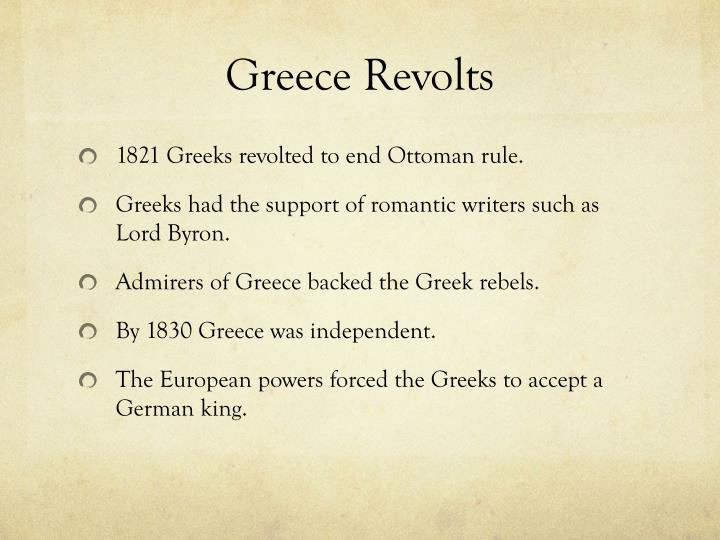 Greece Revolts
