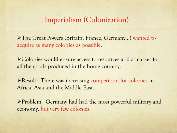 Imperialism (Colonization)
