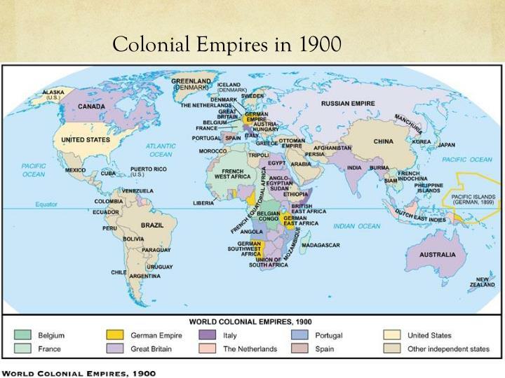 Colonial Empires in 1900