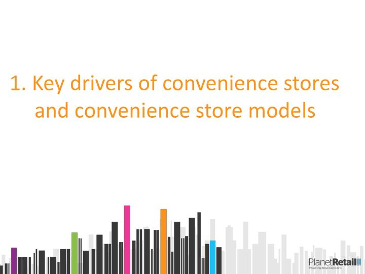 1. Key drivers of convenience stores