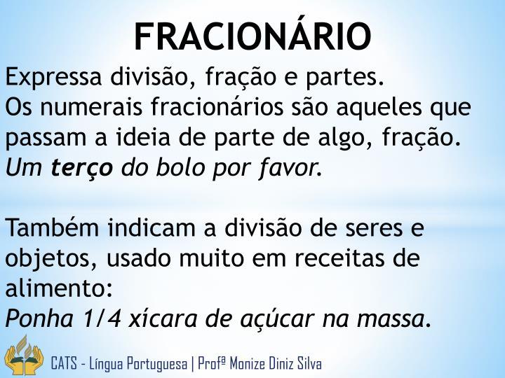 FRACIONÁRIO