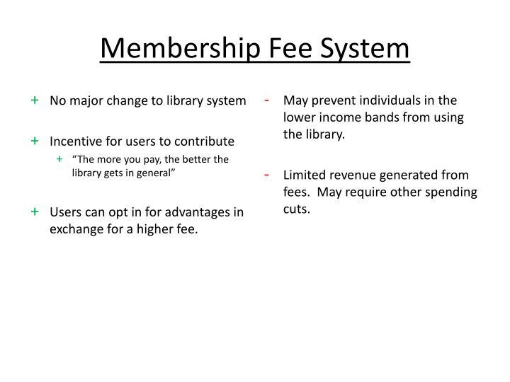 Membership Fee System