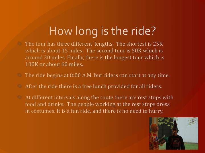 How long is the ride?