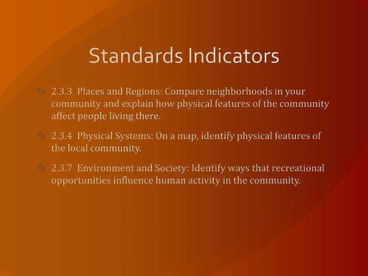 Standards Indicators