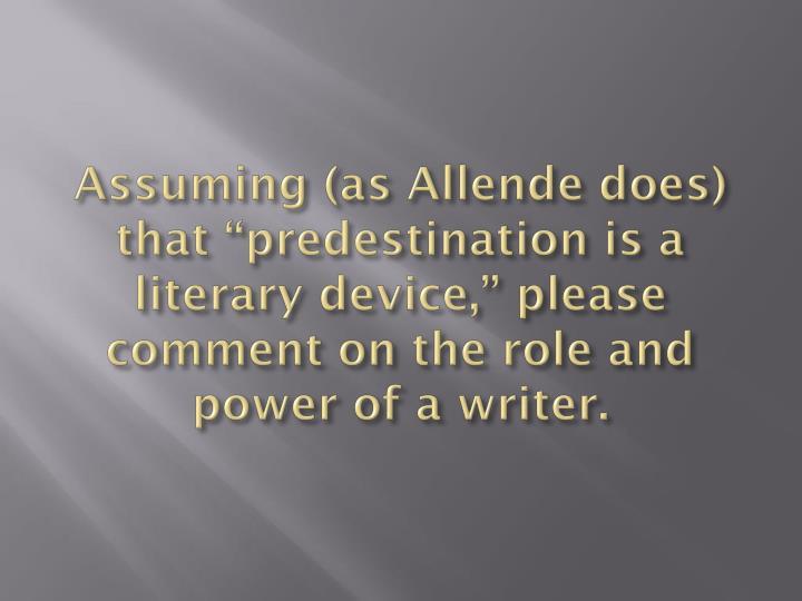 Assuming (as