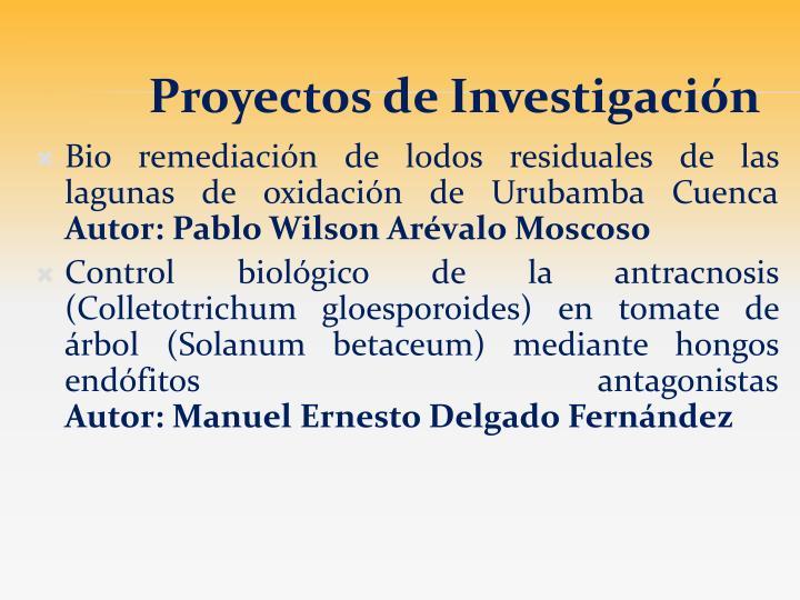 Bio remediación de lodos residuales de las lagunas de oxidación de Urubamba Cuenca