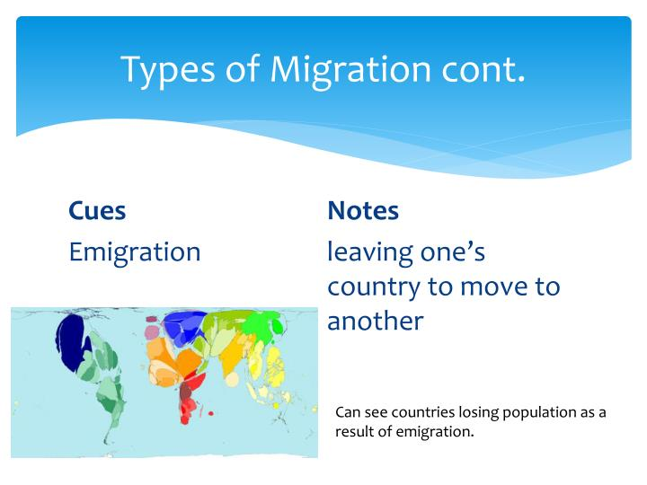 migration types in different countries Gain, and economic migration might be a specific instance of this type of   experienced their migration as akin to that between two different countries in  certain.