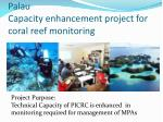 palau capacity enhancement project for coral reef monitoring