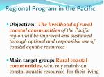 regional program in the pacific