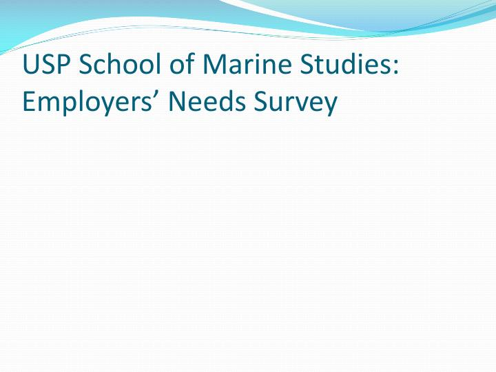 USP School of Marine Studies: