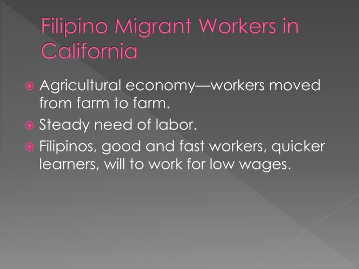 Filipino Migrant Workers in California