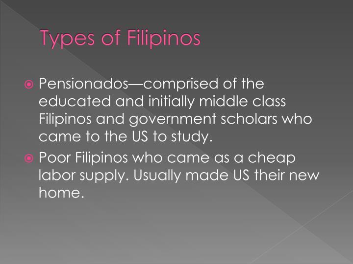Types of Filipinos