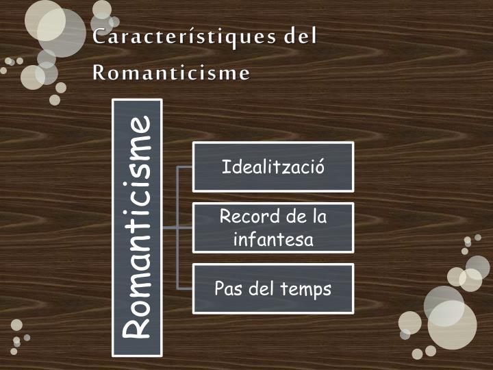 Característiques del Romanticisme