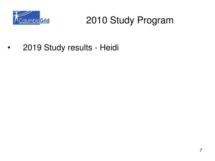 2010 Study Program