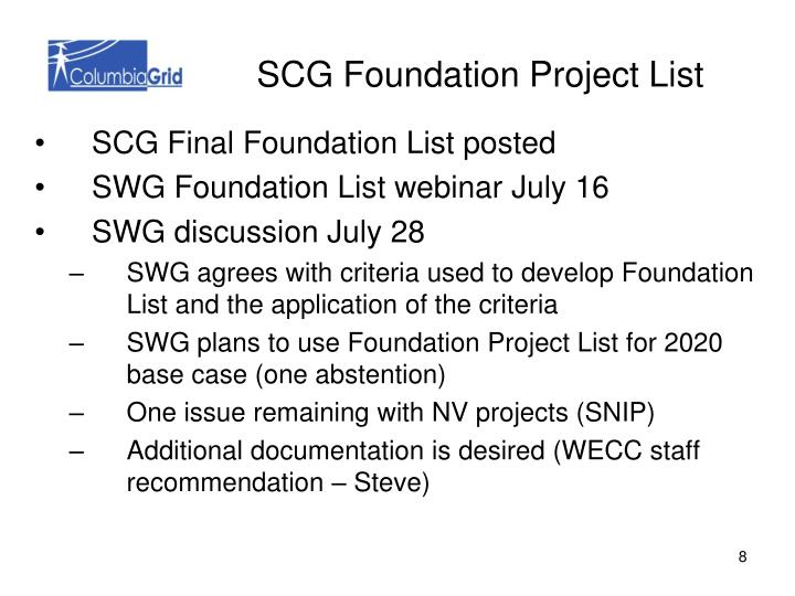 SCG Foundation Project List