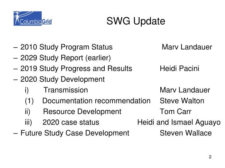 SWG Update