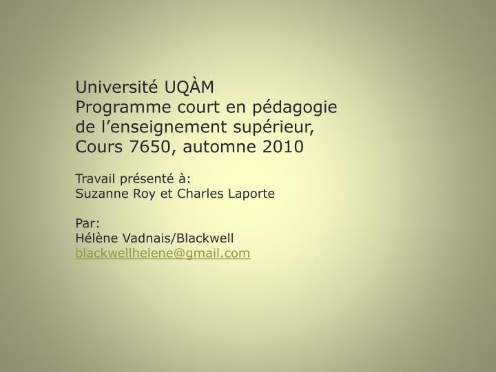 Université UQÀM