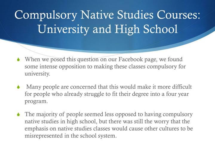Compulsory Native