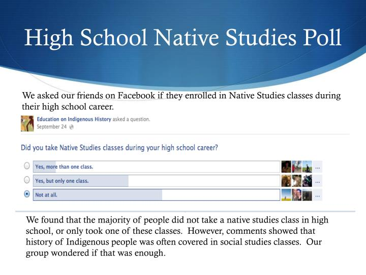High School Native Studies Poll