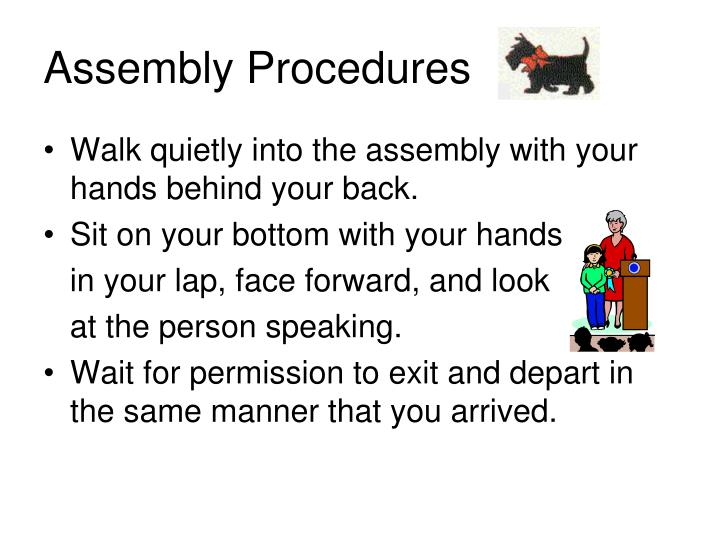 Assembly Procedures
