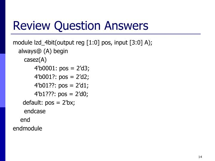 Review Question Answers