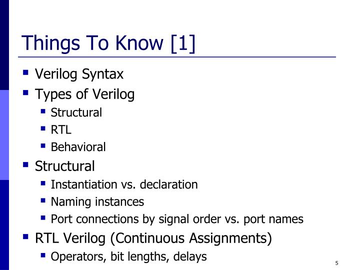 Things To Know [1]