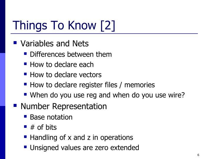 Things To Know [2]
