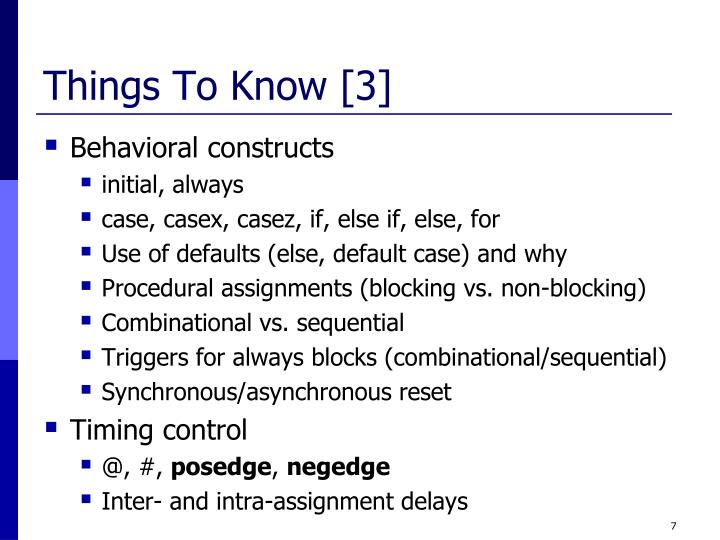 Things To Know [3]