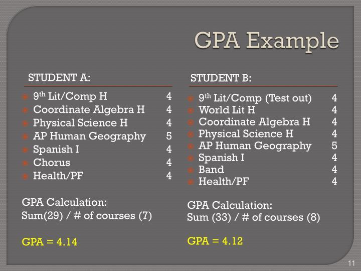 GPA Example
