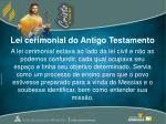 lei cerimonial do antigo testamento