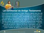 lei cerimonial do antigo testamento1
