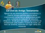lei civil do antigo testamento
