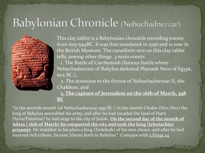 Babylonian Chronicle