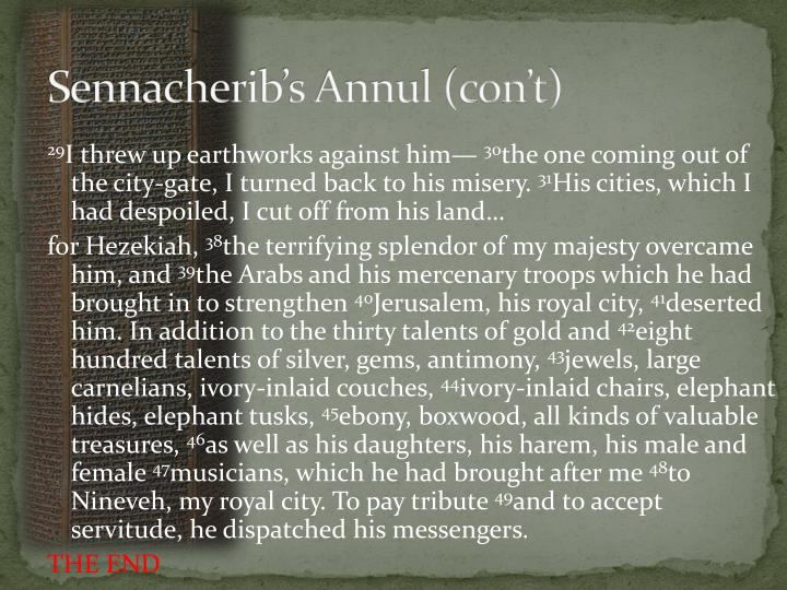 Sennacherib's Annul (