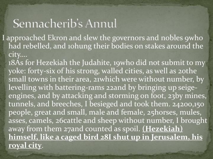Sennacherib's Annul