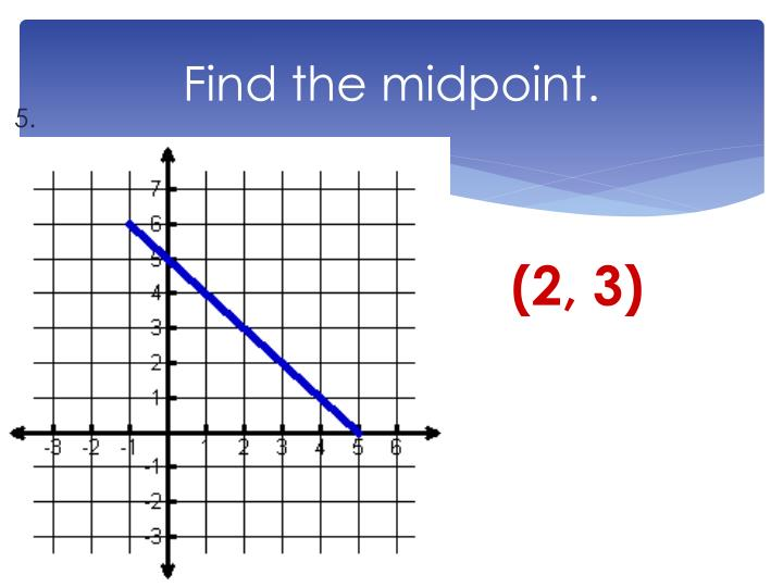 Find the midpoint.