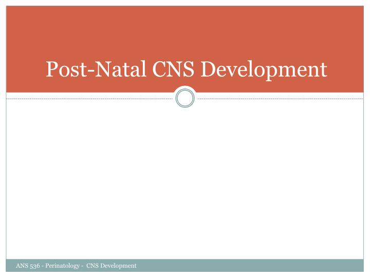Post-Natal CNS Development