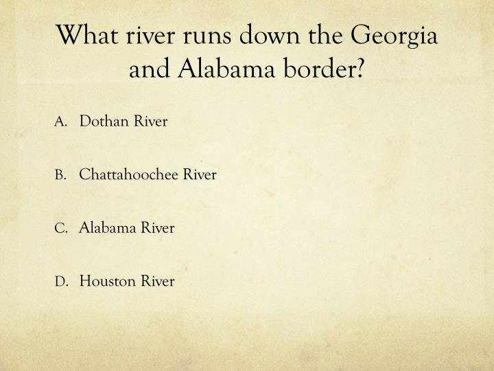 What river runs down the georgia and alabama border