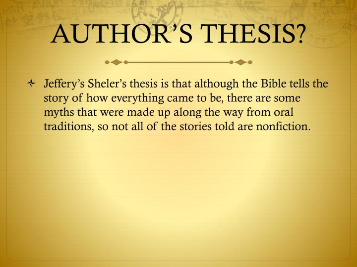thesis author image The title page of a book, thesis or other written work is the page at or near the front which displays its title, subtitle, author, publisher, and edition(a half title, by contrast, displays only the title of a work.