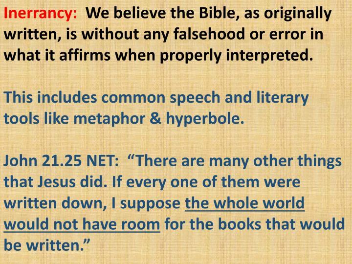 Inerrancy: