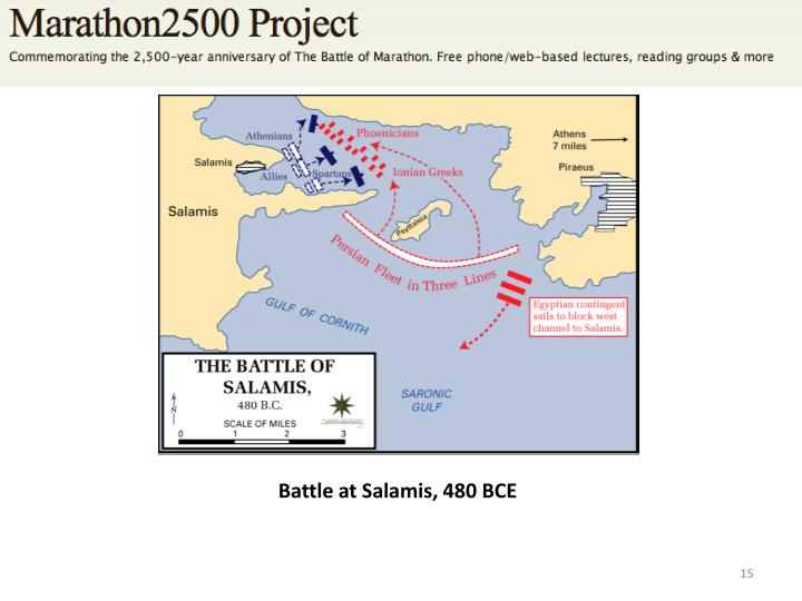 Battle at Salamis, 480 BCE