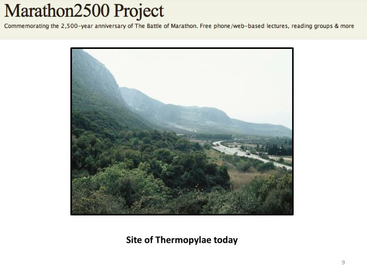 Site of Thermopylae today