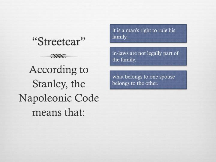 """Streetcar"""